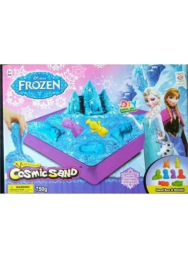 Frozen Lisanslı Frozen Cosmic Sand, Kinetik Oyun Kumu - 8 Kalıplı,750 gr Renkli